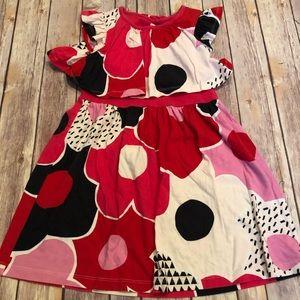 Tea red floral dress